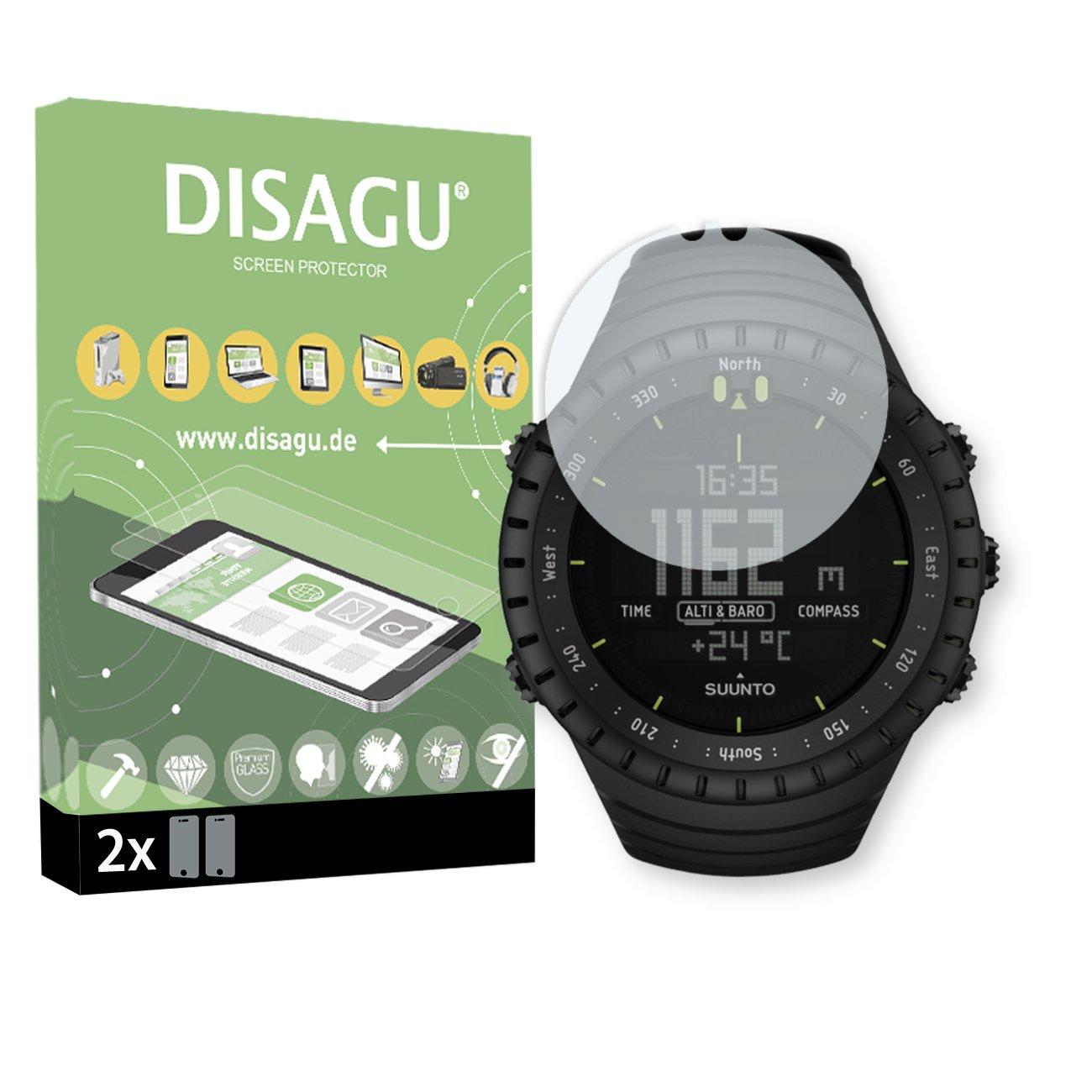 DISAGU 2X Flessibile Tempered Glass per Suunto Core all Black Protezione dello Schermo in Vetro temperato di 9H durezza #tg7756_2
