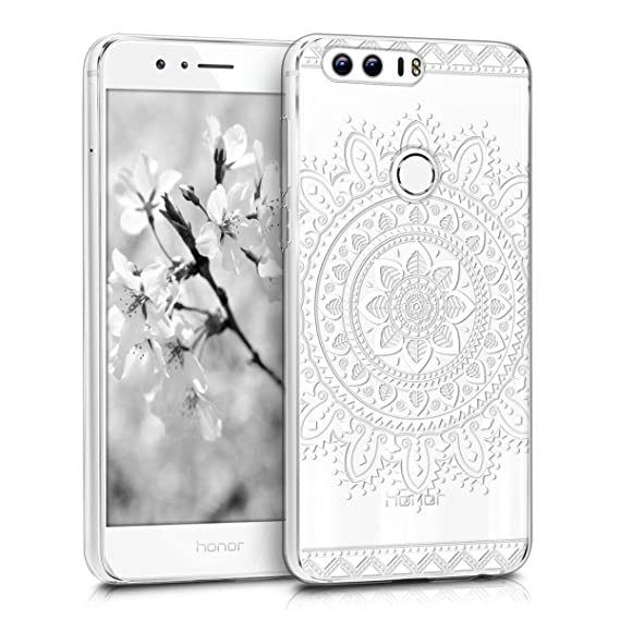finest selection a84c5 2658e kwmobile TPU Silicone Case for Huawei Honor 8 / Honor 8 Premium - Crystal  Clear Smartphone Back Case Protective Cover - White/Transparent
