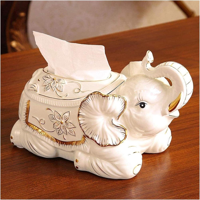 Farmhouse Tissue Box Cover Elephant Tissue Box Cover Case European Classical Style Porcelain Decorative Holder Inlaid Rhinestones Tissue Dispenser Decoration The Best Gift