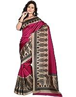 e-VASTRAM Women's Mysore Art Silk Saree (NS8A_Pink)