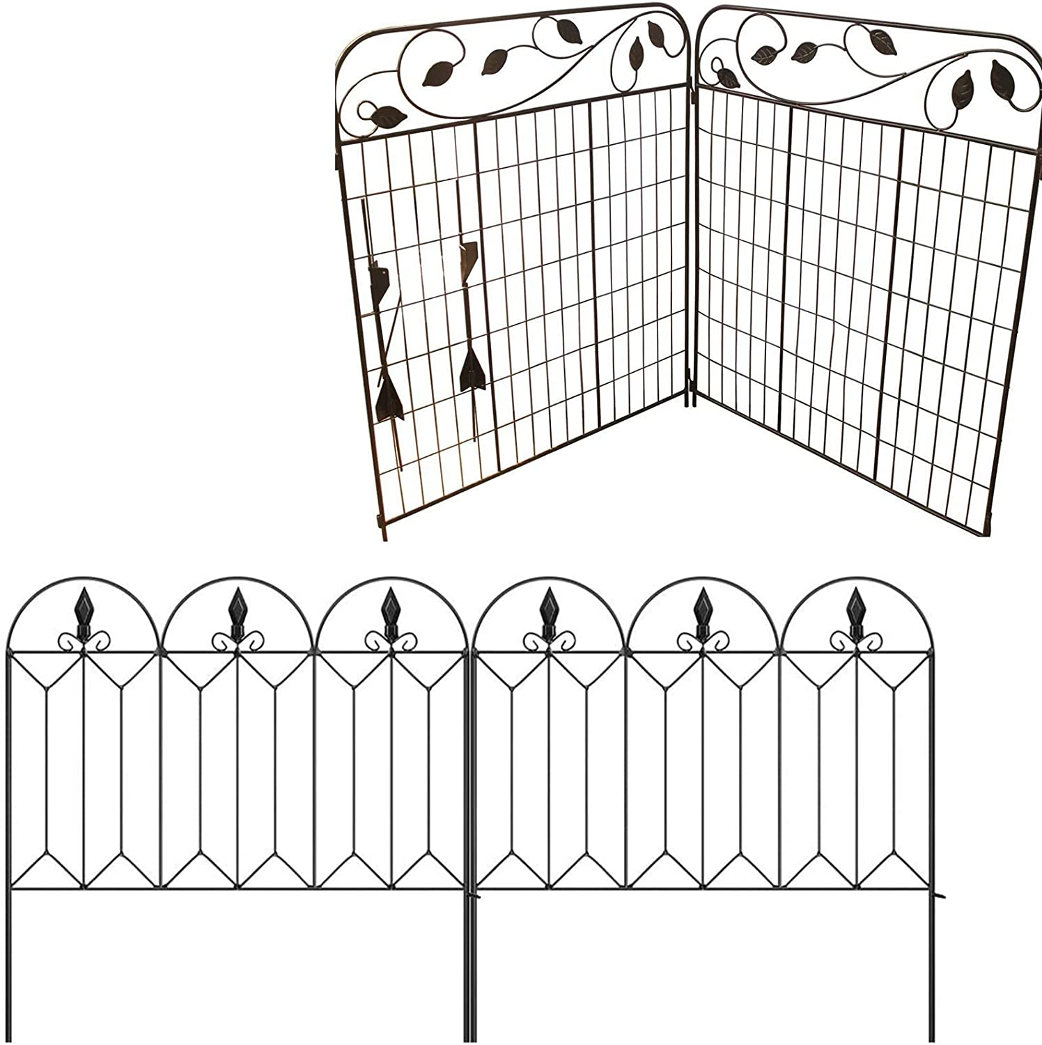 Amagabeli Decorative Garden Fence 44in x 6ft bundle24inx10ft