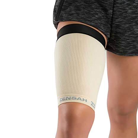 591543c795 Zensah Thigh Compression Sleeve – Hamstring Support, Quad Compression Sleeve  for Men and Women - Thigh Sleeve Wrap, Great for Running, Sports, Groin  Pulls