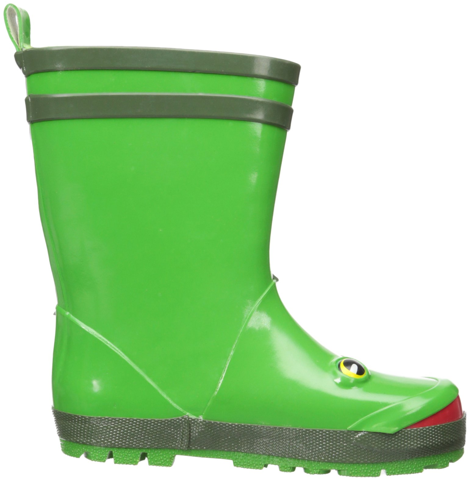 Kidorable Green Frog Natural Rubber Rain Boots With A Pull On Heel Tab (Little Kid) 12 M US by Kidorable (Image #8)