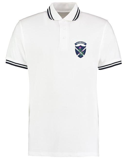 Polo para hombre con el logo escocés del cardo, Trybull Rugby ...