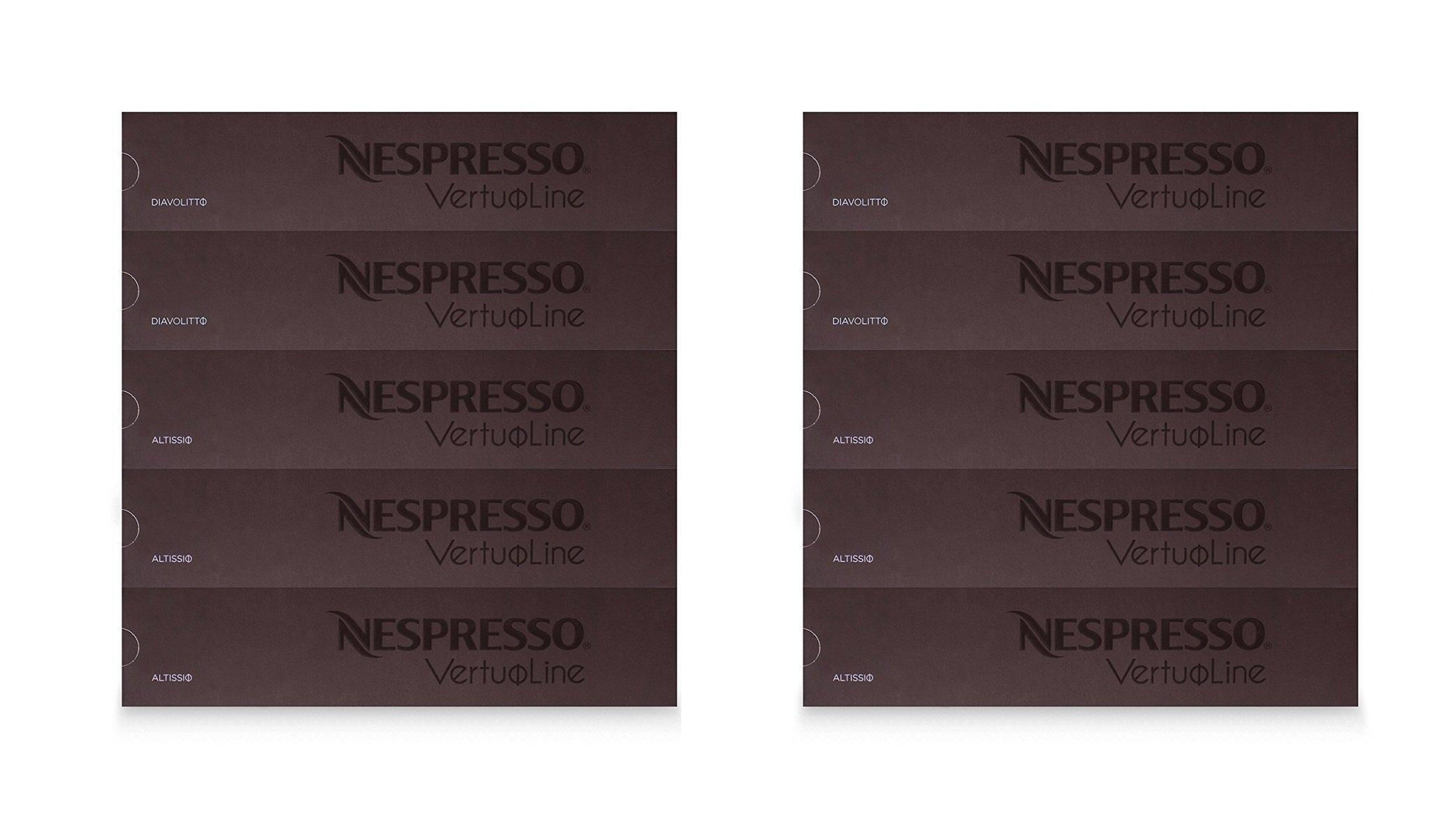 Nespresso Vertuoline Espresso Assortment gzgilB, 2Pack (50 Capsules)