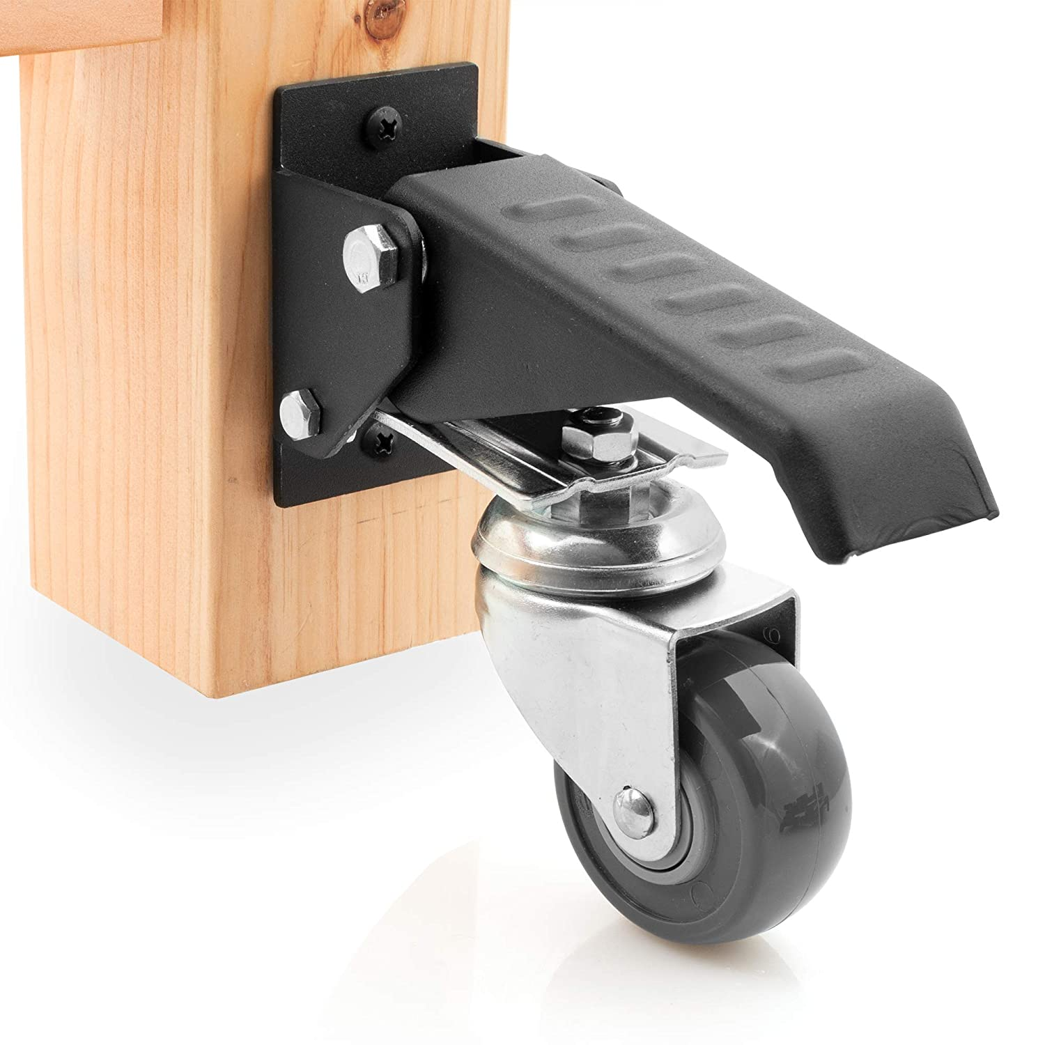 Prime Workbench Caster Kit 4 Heavy Duty Retractable Casters With Urethane Wheels Designed To Lift Lower Workbenches Machinery Tables 840 Lb Total Weight Gmtry Best Dining Table And Chair Ideas Images Gmtryco