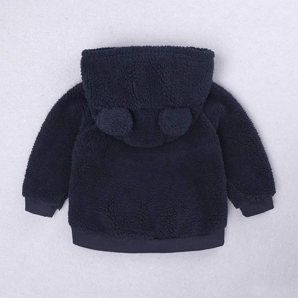 ❤ Modaworld Bebés Recién Nacidos Bebé Niños Niña Oreja de Dibujos Animados Sudaderas con Capucha Tops Abrigo de Ropa Caliente Abrigo Capa Chaqueta: ...