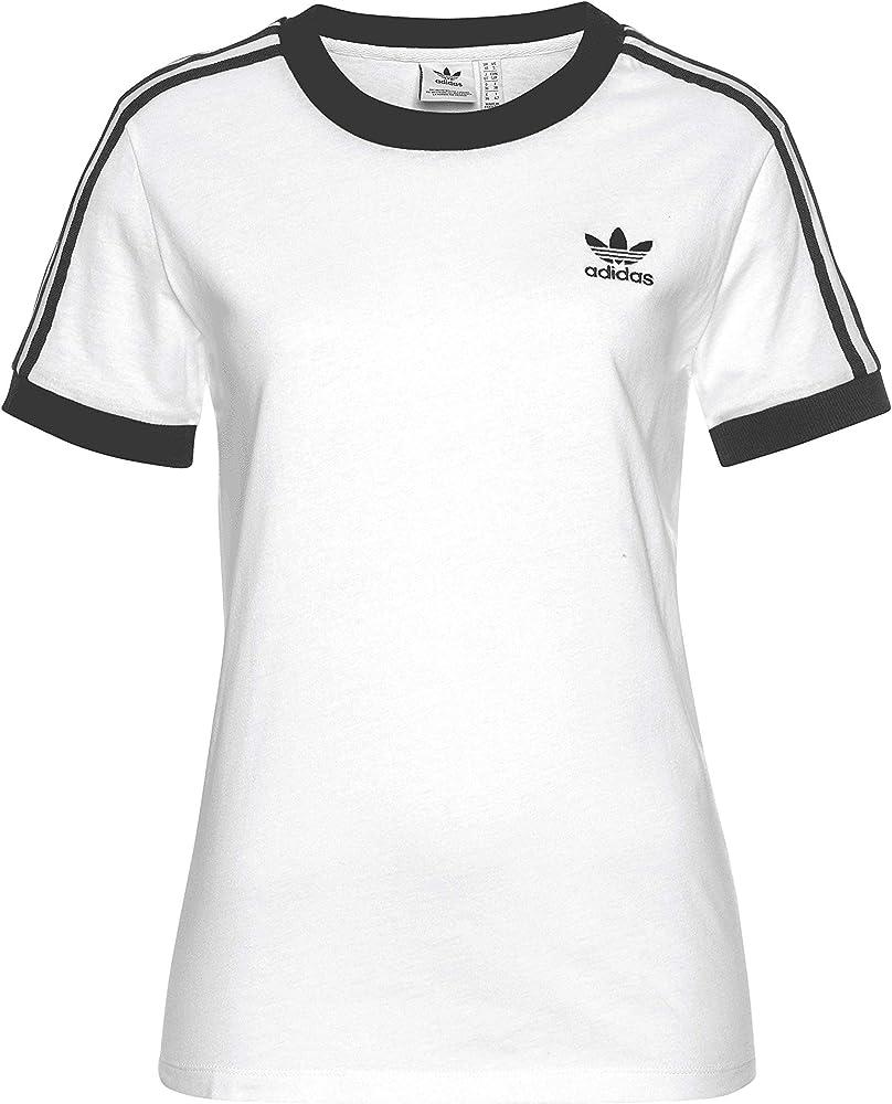 Adidas 3 Stripes - Camiseta para mujer blanco / negro 42: Amazon.es: Ropa y accesorios