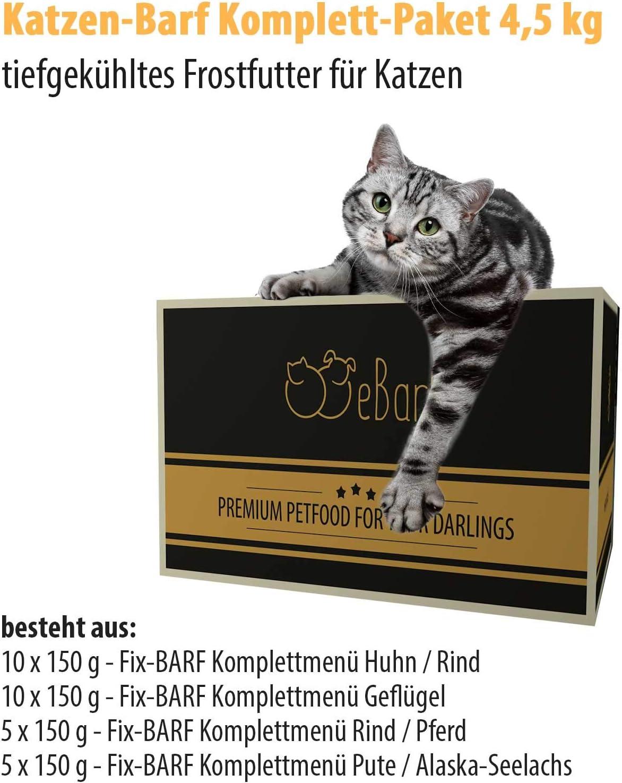 Gatos de barf Completo Paquete de 4,5 kg incl. Fix de barf ...