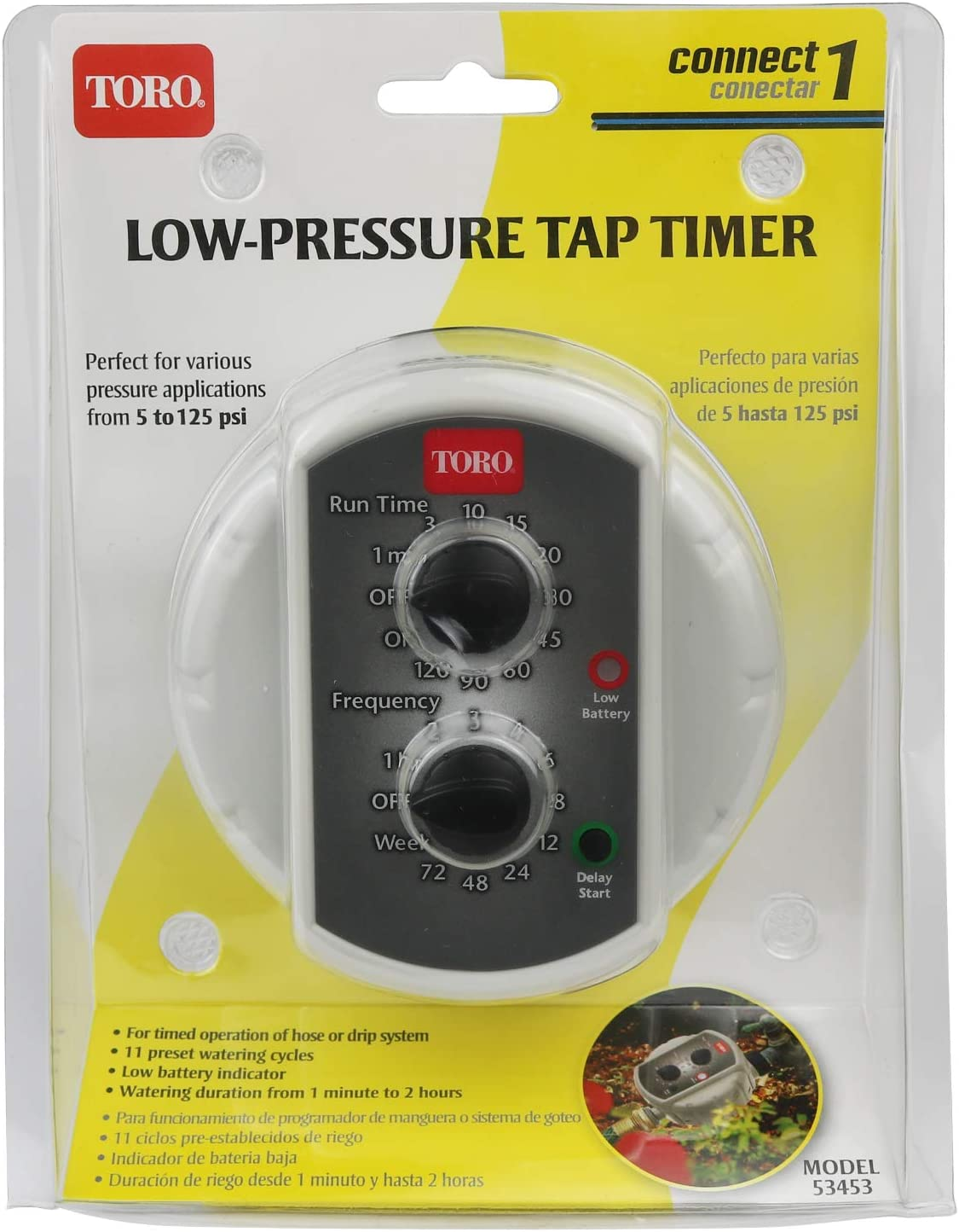 Light Grey Toro 53453 Low-Pressure Tap Timer