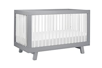 babyletto furniture. Babyletto Hudson 3-in-1 Convertible Crib With Toddler Bed Conversion Kit,  Grey Babyletto Furniture