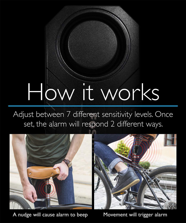 Fosmon Alarma Anti Robo de Bicicleta con Control Remoto ...