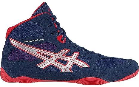 Asics - Zapatillas de lucha, boxeo, Snapdown, colores azul oscuro, plateado y