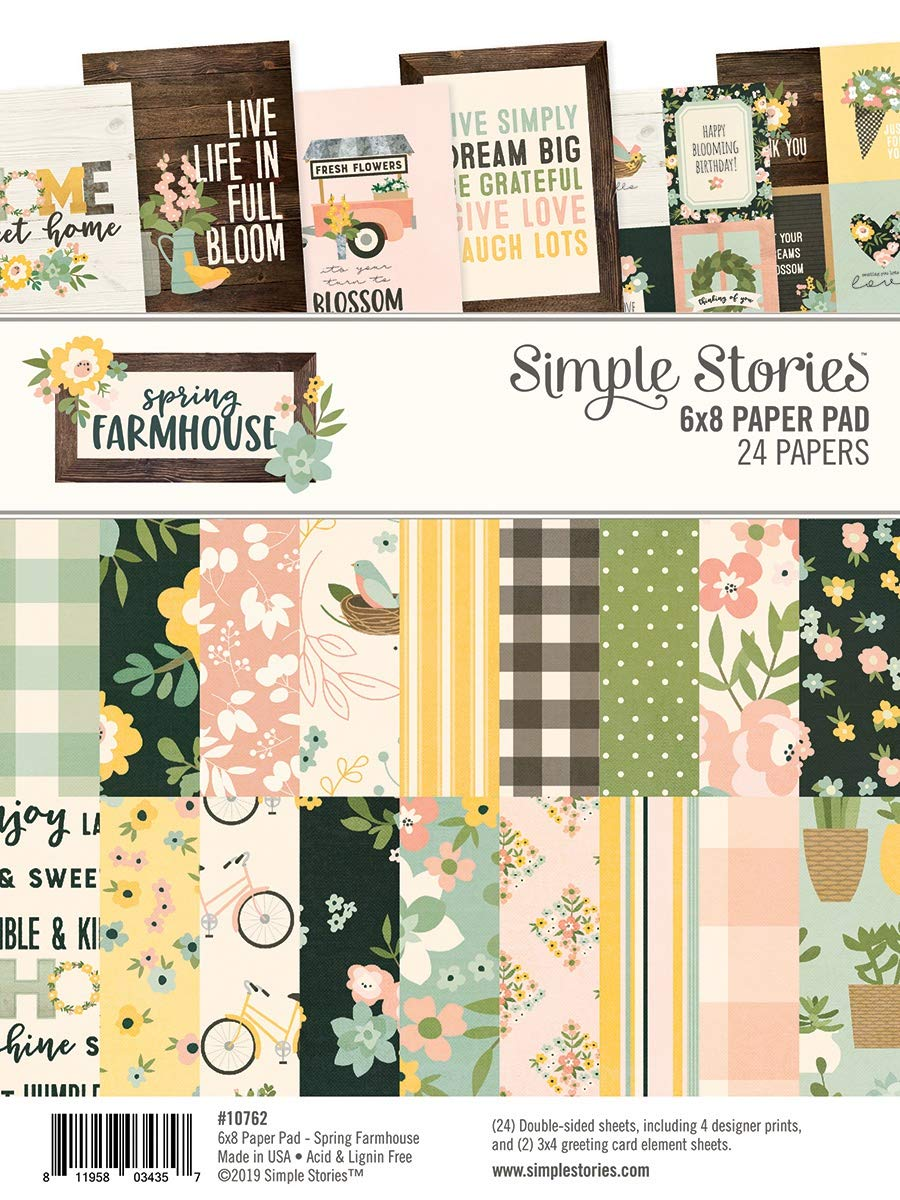 Simple Stories Double-sided Paper Pad 6x8 24//pkg-spring Farmhouse 8