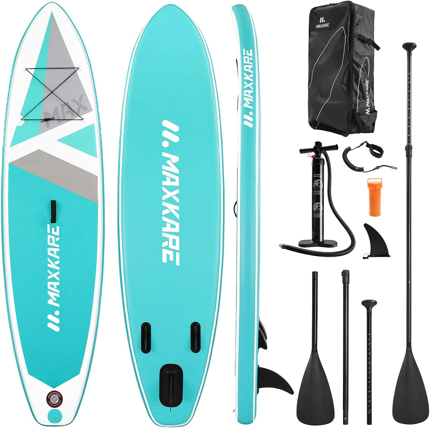 """MaxKare SUP 10'30""""6"""" Inflatable Premium Stand Up Paddle Board"""