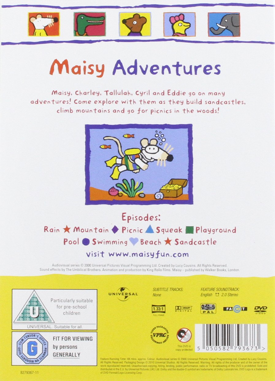 maisy volume 6 adventure dvd amazon co uk neil morrissey