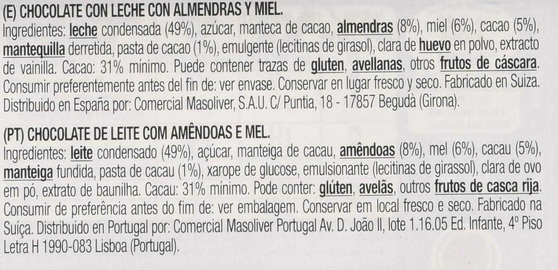 Cailler, Galleta fresca de oblea (con almendras 8% y miel 6 ...