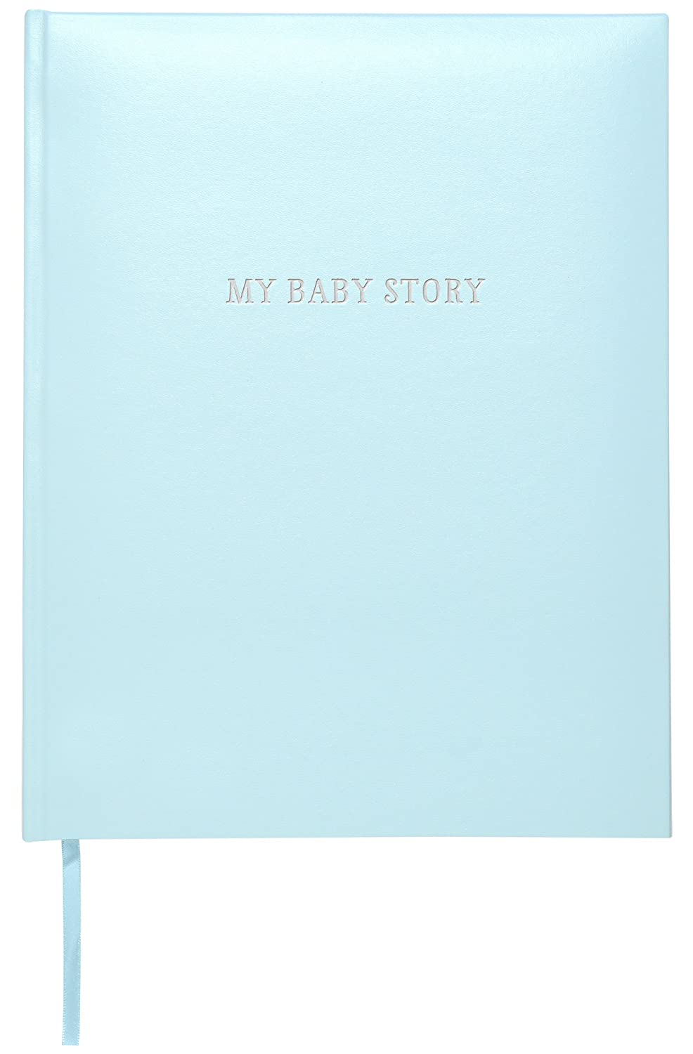 C.R. Gibson Perfect-Bound Blue Leather Memory Book for Newborn and Baby Boys, 64 Pages, 9 W x 11.125 H 9 W x 11.125 H C.R. Gibson - Baby B2-18285