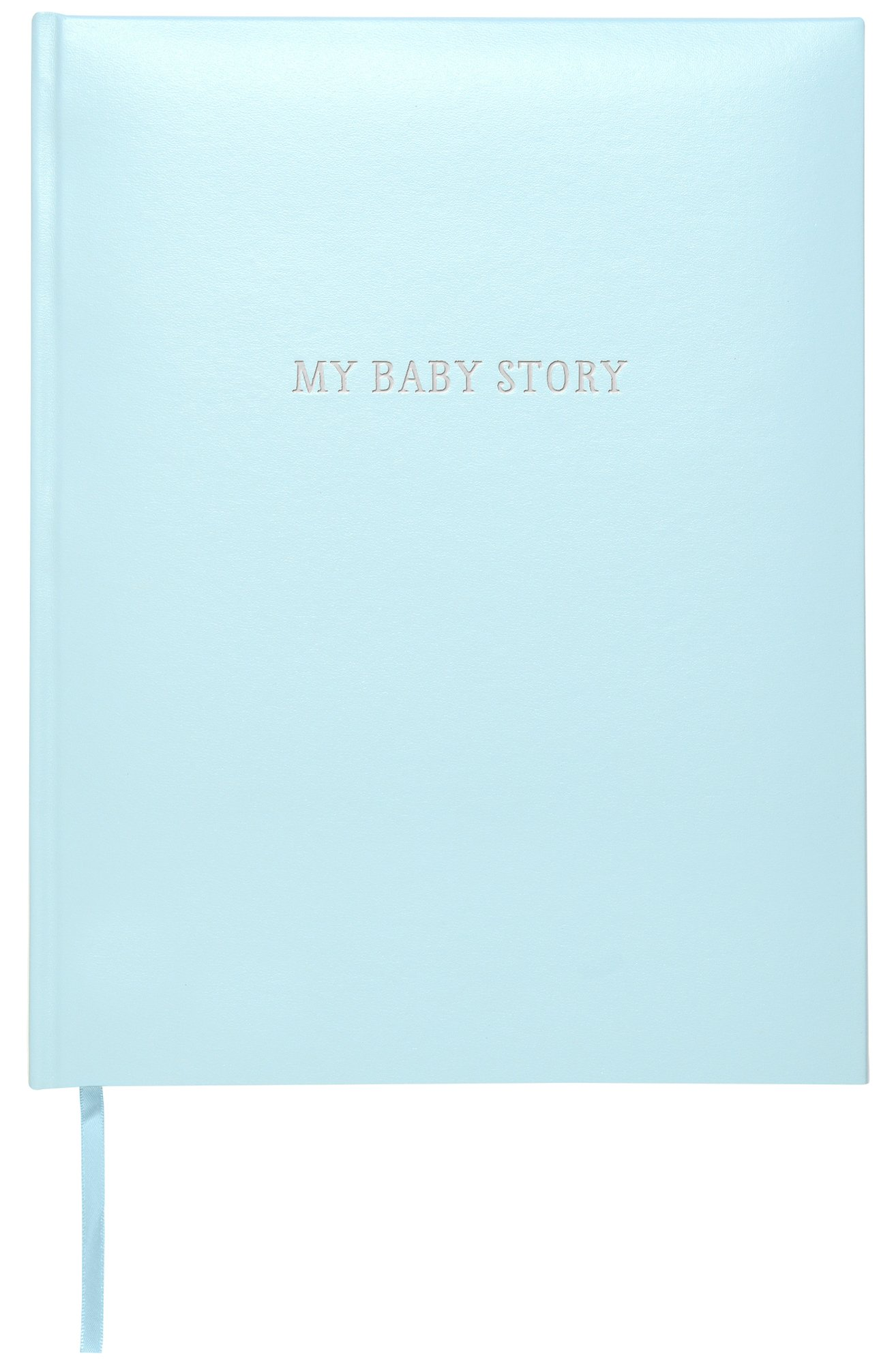 C.R. Gibson Perfect-Bound Blue Leather Memory Book for Newborn and Baby Boys, 64 Pages, 9'' W x 11.125'' H