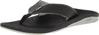 Reef Men's Swellular Cushion Lux Sandal,Black,7 ...