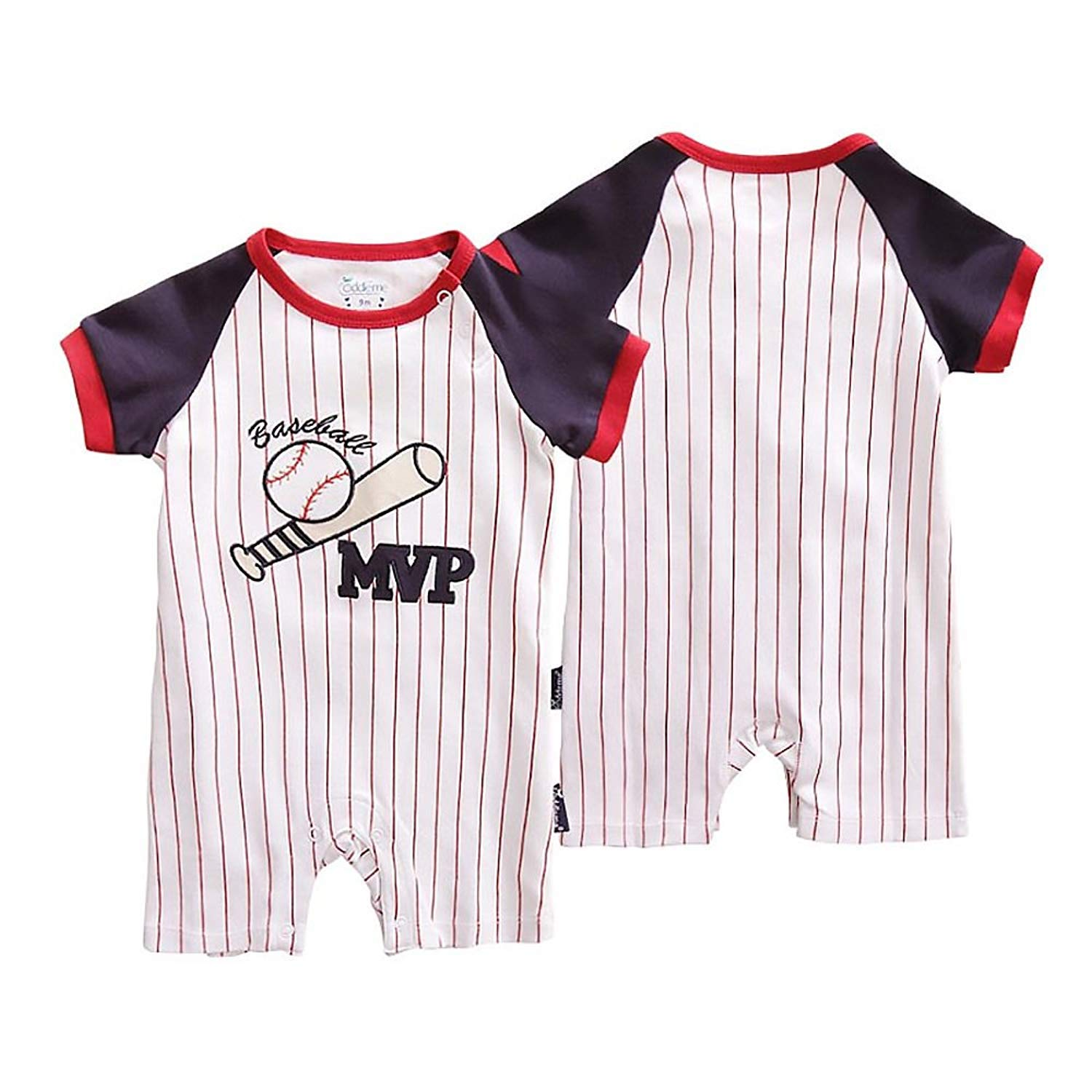 6a28a582ad4 Amazon.com   Nicedeal Baby Girl Coverall Summer Kids Rompers Boy Bodysuits  Newborn Jumpers Playsuit Infant Outfits for 80cm Baseball MVP Baby Tools  for ...
