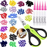 VICTHY 100pcs Cat Nail Caps with Clipper Set, Pet Cat Nail Clipper Cat Soft Claws Nail Covers for Cat Claws with…