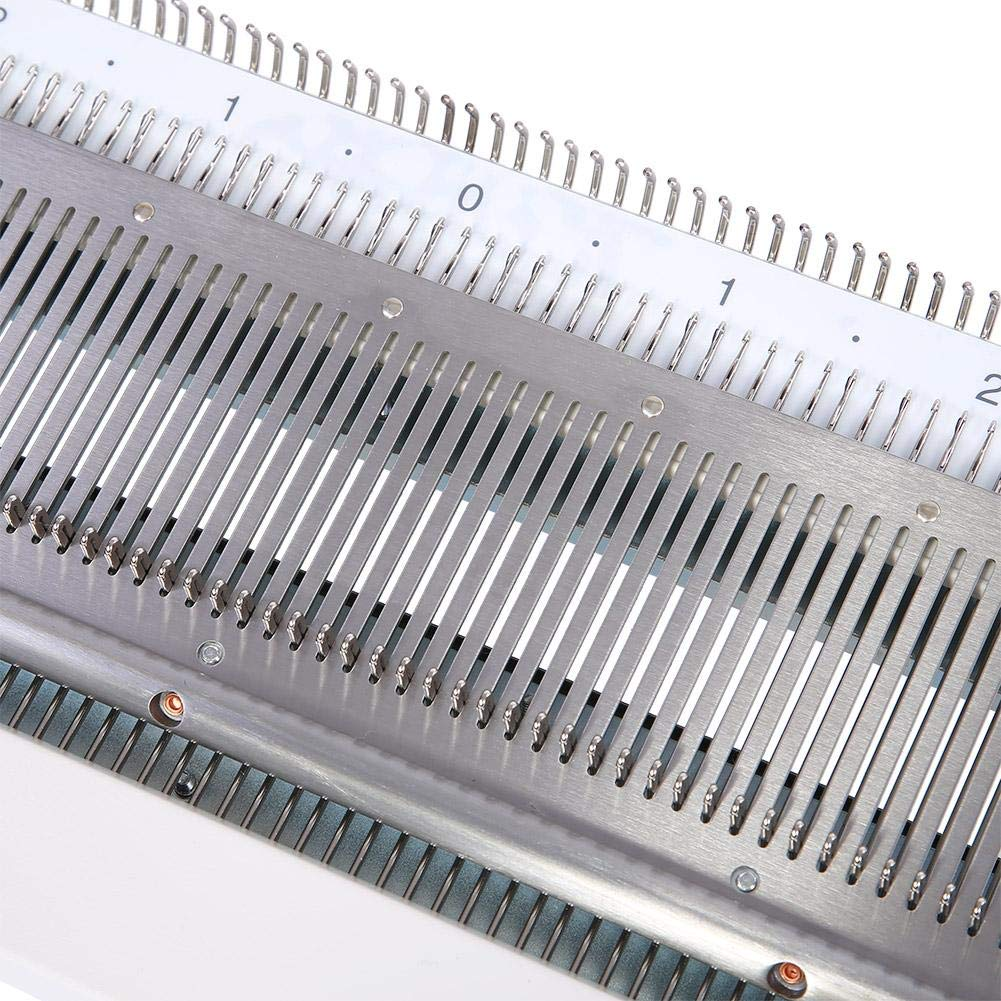 Akozon Knitting Machine, Sweater Knitting Machine Artisan 245 Standard Gauge Plastic Domestic Knitting Machine for Silver Reed SK280 SK360 SK840 Includes Yarn Needles Accessories for Adults/Kids by Akozon (Image #7)