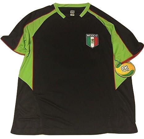 b7c47db4932 Rhinox Mexico Soccer World Cup Adult Football Training Performance Black  Jersey (Small)