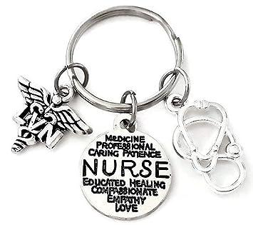 LVN llavero, llavero, diseño de enfermera, LVN encanto ...