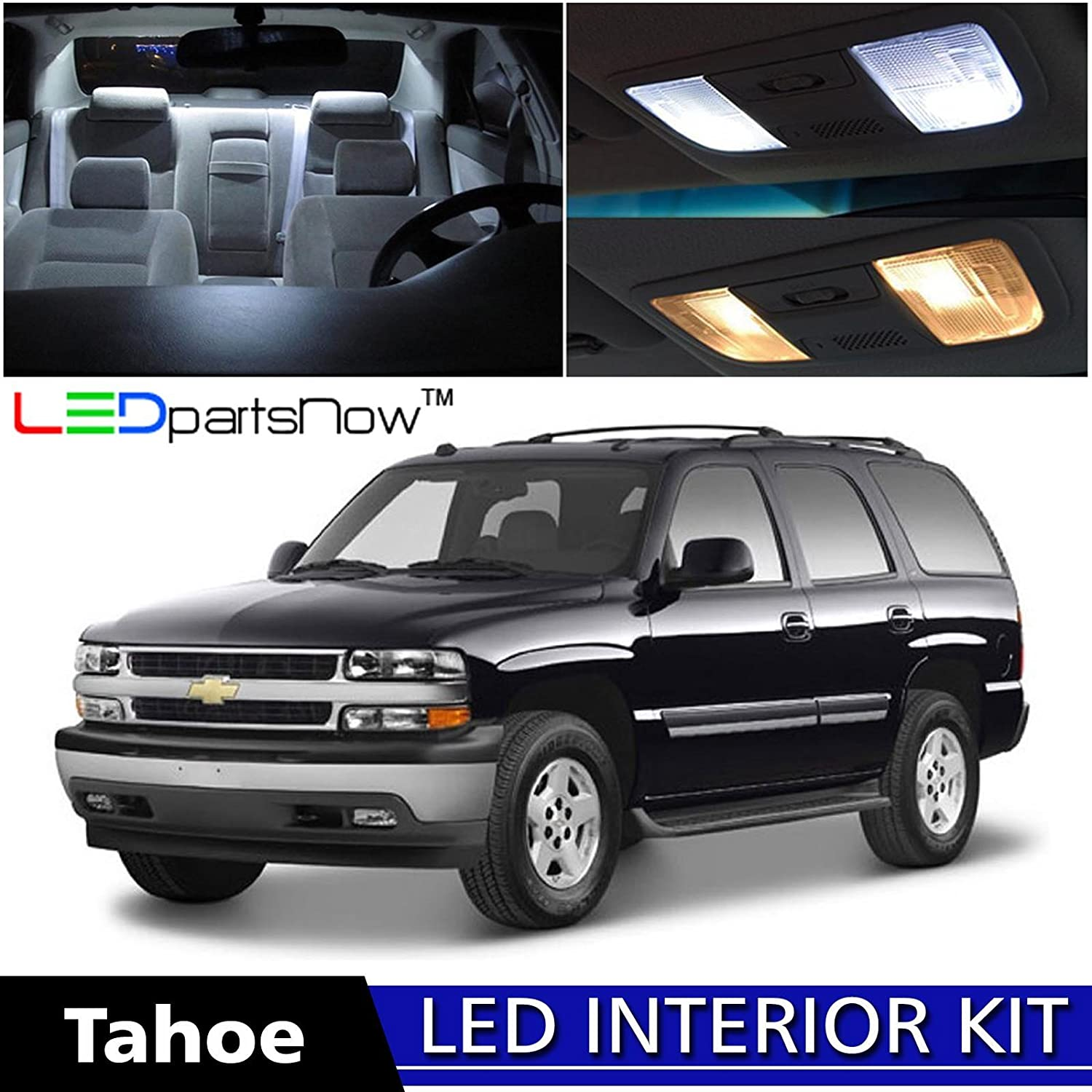 Ledpartsnow 2000 2006 Chevy Tahoe Led Interior Lights 03 Fuse Box Replacement Accessories Package Kit 18 Pieces White Automotive