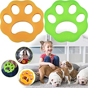 LAO XUE Pet Hair Remover for Laundry,Dogs and Cats Hair Catcher for Washing Machine,Non-Toxic Safety Reusable Floating Pet Fur Catcher,The Laundry Lint and Fur Remover-2 Pcs