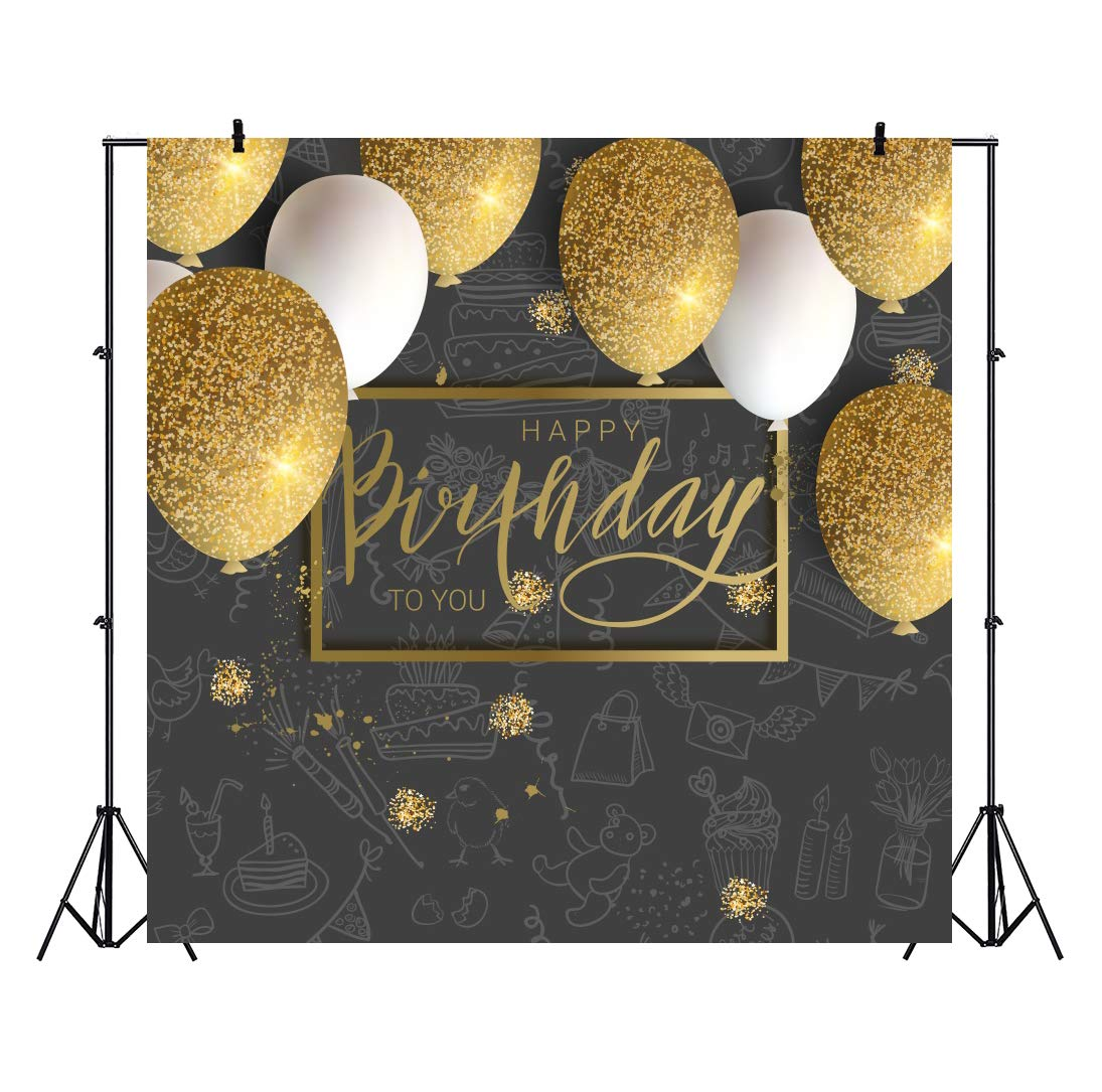 Amazon.com : OFILA Happy Birthday Backdrop 6x6ft Birthday ...