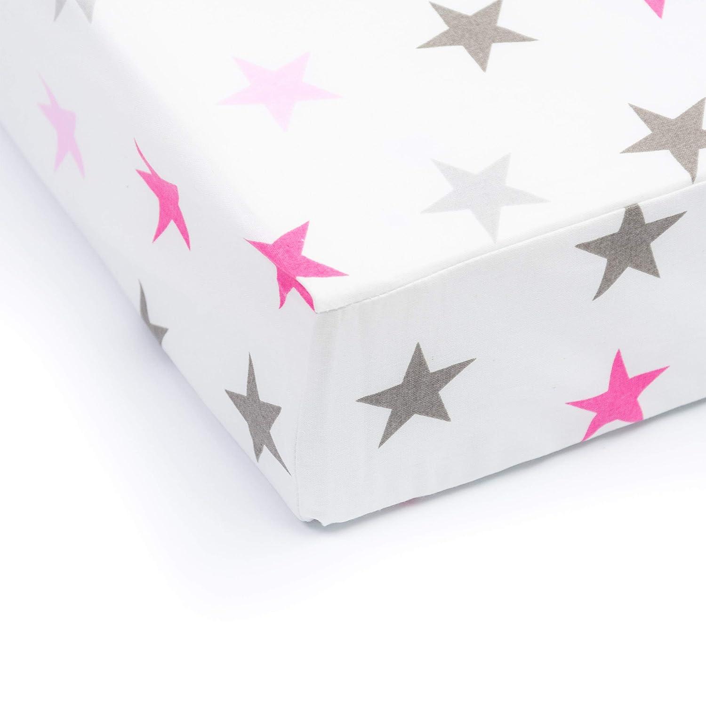 Baby Bettw/äsche Gr/ö/ße: 120x60 cm Muster: Schmetterling Grau 70x140 cm f/ürs Baby 100/% Baumwolle Amilian Spannbettlaken Spannbetttuch f/ür Babybett Kinderbett 60x120 cm