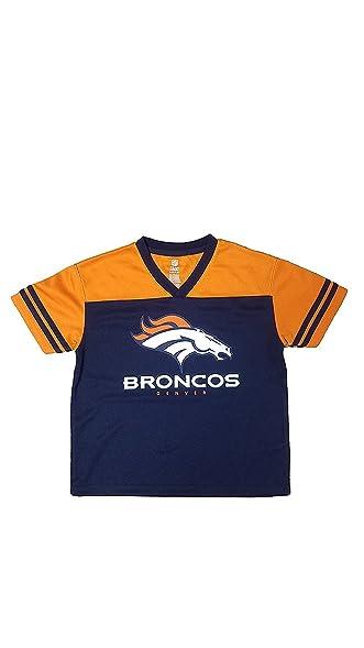 half off 6c7ed 220d9 Amazon.com: Denver Broncos Navy Boys Team Apparel V Neck ...