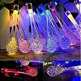Innoo Tech 3.3M Guirlande Solaire d'extérieur, 20 LEDs en Forme de Goutte d'eau, Décoration pour Jardin Noël Mariage Partie Halloween(Multicolore)