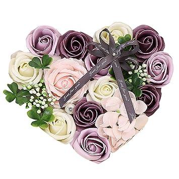 Amazon Com Ecosin Best Gift Box Rose Mother S Day Diy Soap Flower