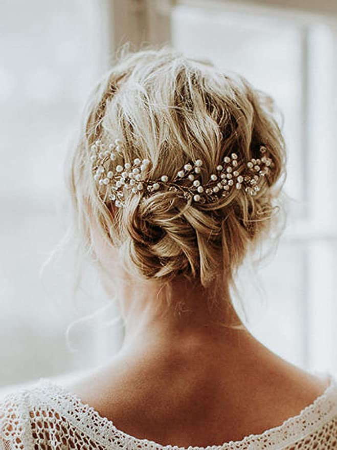 Jovono Diademas de pelo para novia 1c9e697857de