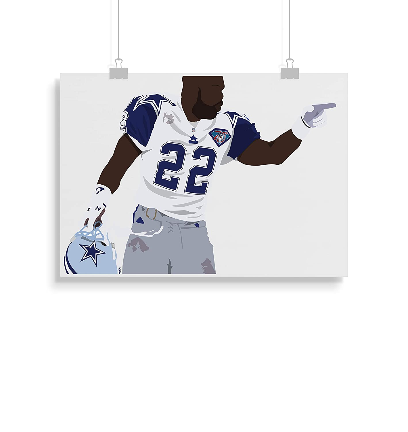 Emmitt Smith Inspired Poster Minimalist Style Frame Not Included Print- Art Various Sizes Available -