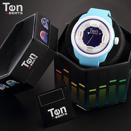 Amazon.com: TENDENCE - Ten Beats Wave Unisex Analog Blue Sillicone Quartz Sport Wrist Watch - BF130210: Watches