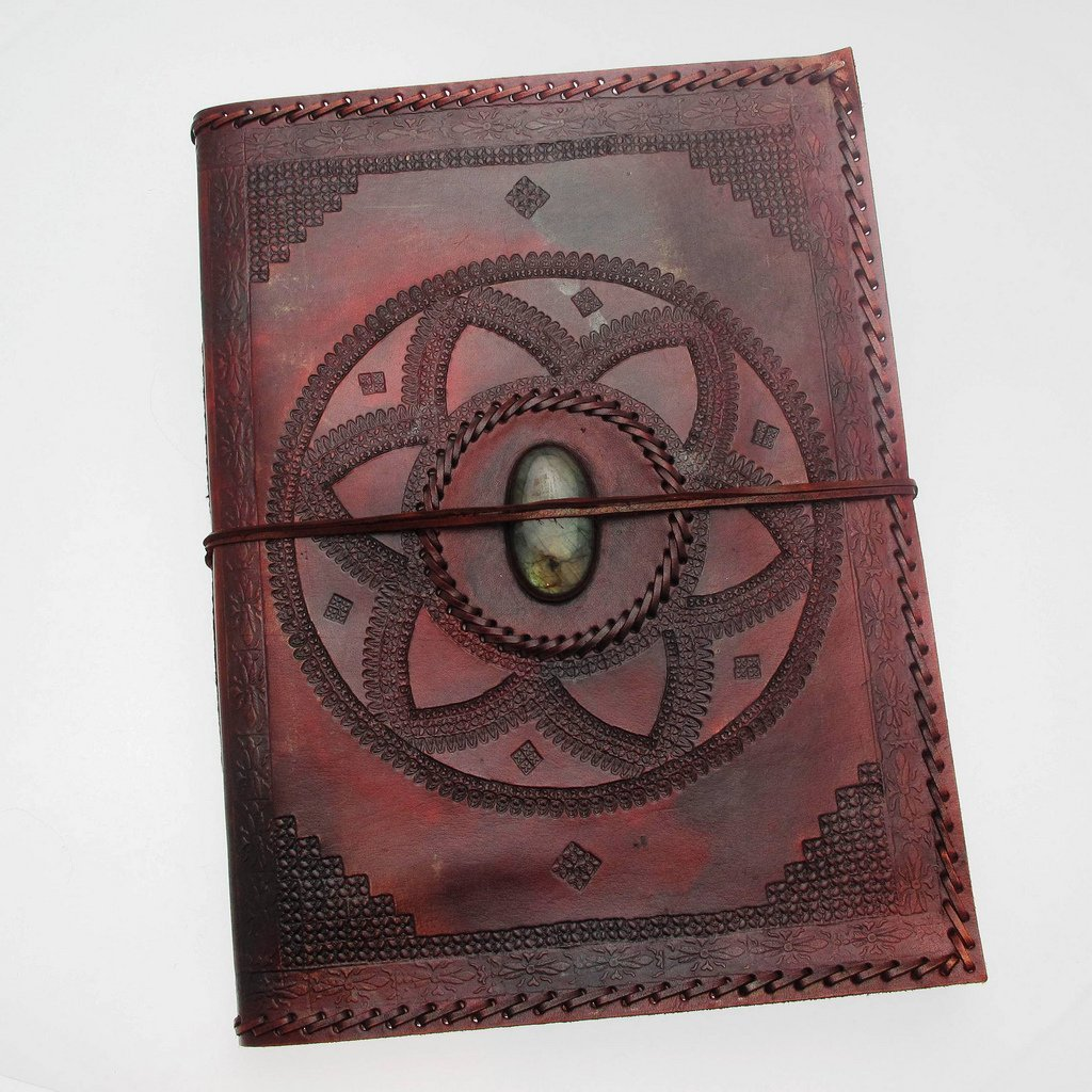 Paper High Indra Extra Large Stitched and Embossed Stoned Leather Photo Album 260 x 365 mm