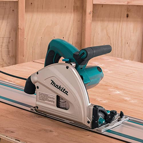 Makita SP6000J1 6-1 2 in. Plunge Circular Saw Kit, with Stackable Tool case and 55 in. Guide Rail