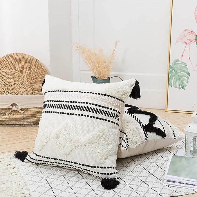 Amazon.com: Blue Page Morocco - Fundas de almohada con ...