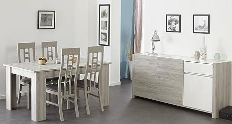 Sala da pranzo con tavolo cm porto fino grey bianco