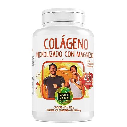 Colágeno Hidrolizado con Magnesio y Calcio | Vitamina C | Vitamina D| El Complemento alimenticio perfecto para la piel y articulaciones -450 ...