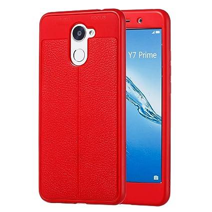 Funluna Funda Huawei Y7 2017 / Y7 Prime 2017, Silicona Case 360 Grados Full Body Protección Cover Ultra Delgado TPU Carcasa Rubber Bumper Caso para ...