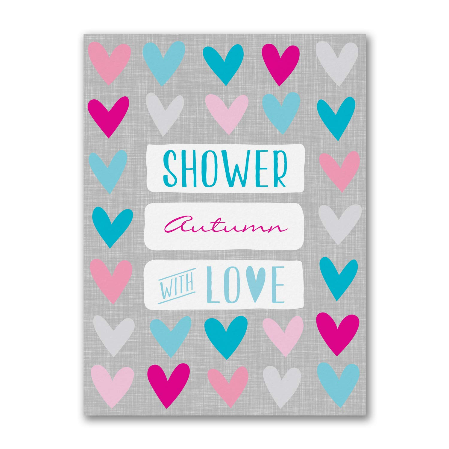 1150pk Heart Shower - Baby Shower Invitation-Baby Shower Invitations