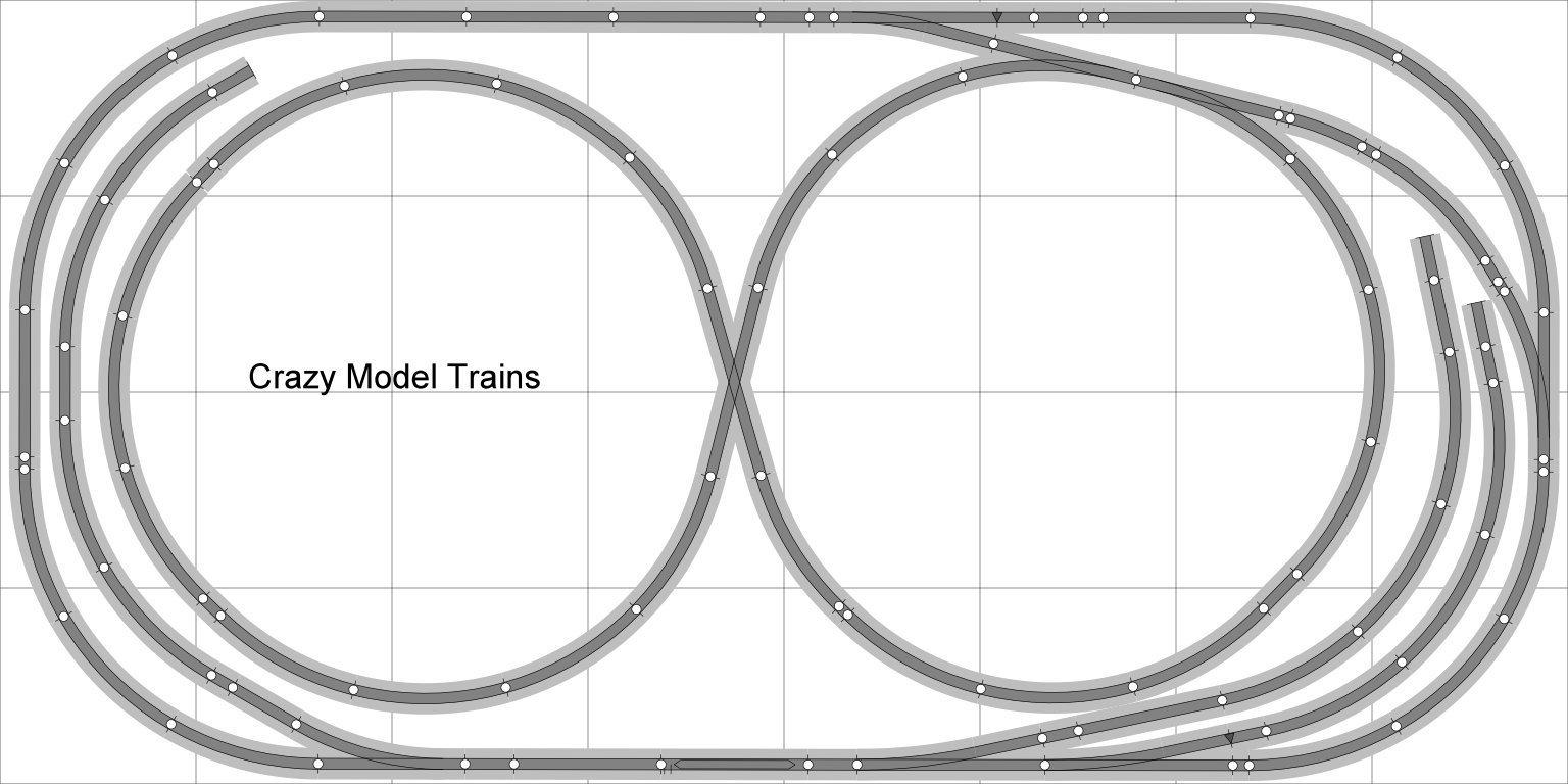 Train Layout #007 DCC Bachmann HO EZ Track (NS) Nickel Silver - 4' X 8' NEW - Train Set BAC-HO-GR-L007D