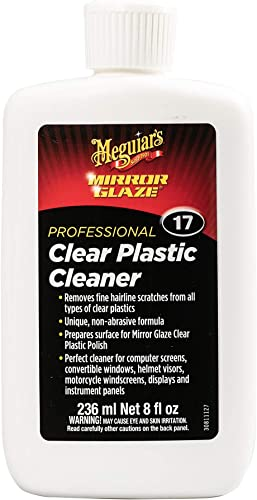Meguiar's Mirror Glaze Clear Plastic Cleaner 8 Fluid Ounces