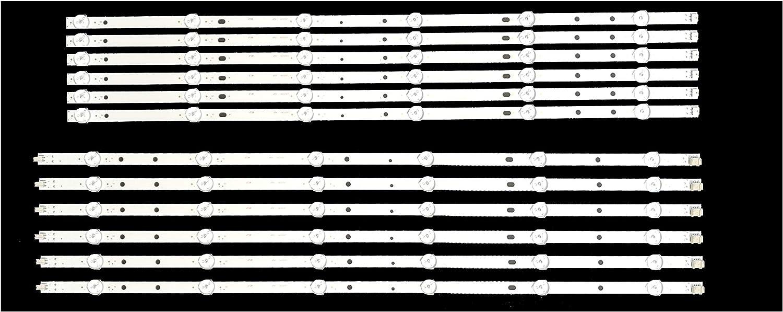 Replacement Backlight LED Strips for Vizio E65-E3 Full Set LB65041 12