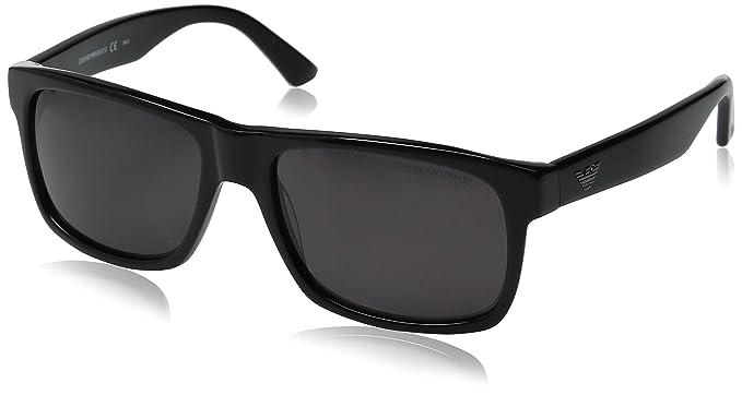 5022f8b5 Emporio Armani EA 9880/S Qhc Bn Matte Black Unisex Sunglasses ...